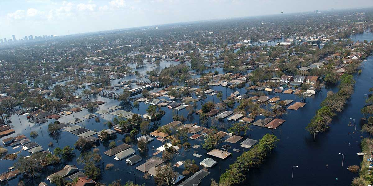 Hurricane Katrina devastated New Orleans in 2005. The storm's destruction, compounded by failed levees, sparked concerns that climate change could have been at least partially responsible.