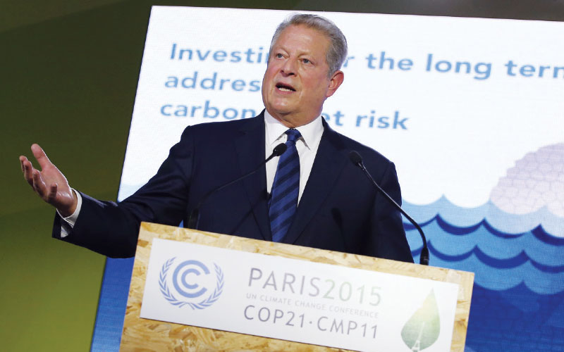 Nearly 10 years after An Inconvenient Truth, 195 nations agreed to try to curb climate change. While Al Gore argued in the film that swift action was needed to prevent long-term problems, politicians are now increasingly motivated by immediate benefits.