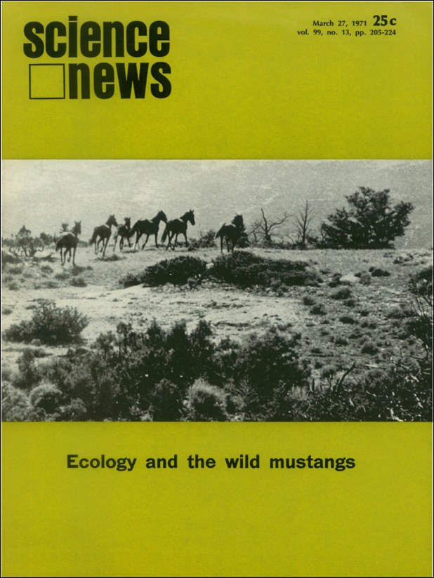 cover of March 27, 1971 issue of Science News