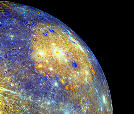 The MESSENGER spacecraft flies past Mercury twice, revealing the origin of the planet's magnetic field, hinting at the presence of early volcanic activity and providing the first looks at the planet's surface composition