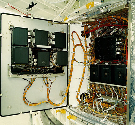 This Hubble data formatting unit suffered a malfunction, requiring further repairs to bring back Hubble online.