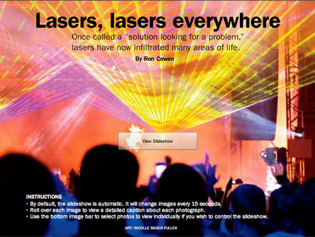 Lasers, lasers everywhere