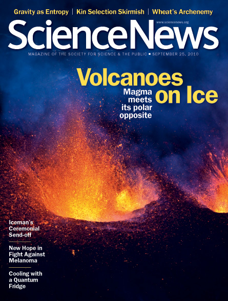 Volcanoes on Ice: magma meets its polar opposite