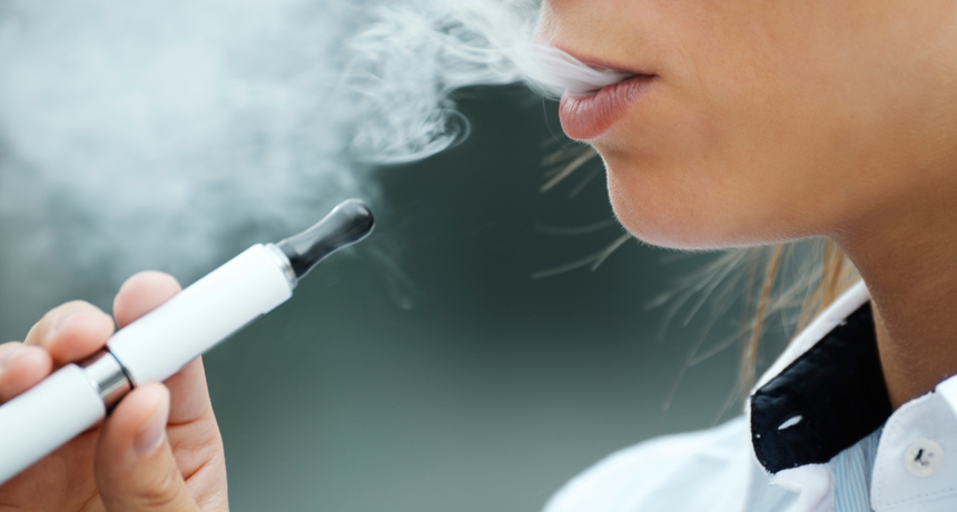 person smoking e-cigarette
