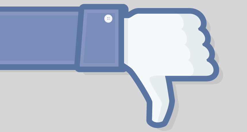 Main result of Facebook emotion study: less trust in