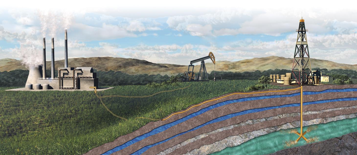 carbon capture and storage illustration