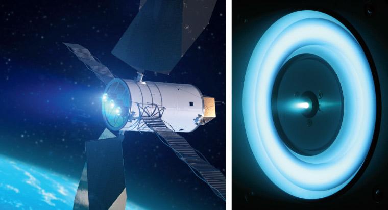 illustration of solar electric propulsion system
