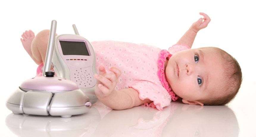 baby with monitor