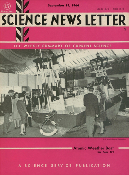 Cover of the September 19, 1964 issue of Science News Letter