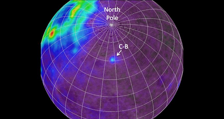 moon map of thorium
