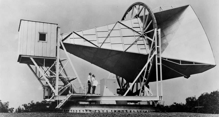 Holmdel horn antenna in New Jersey