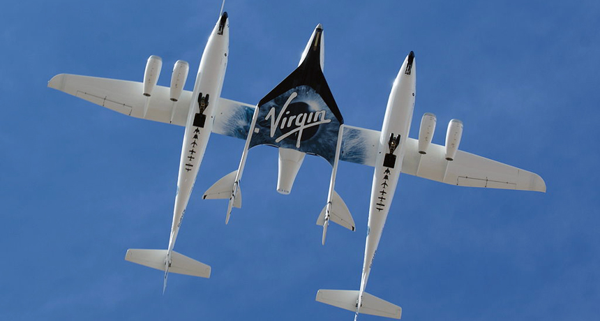 Virgin Galactic's White Knight and Space Ship Two