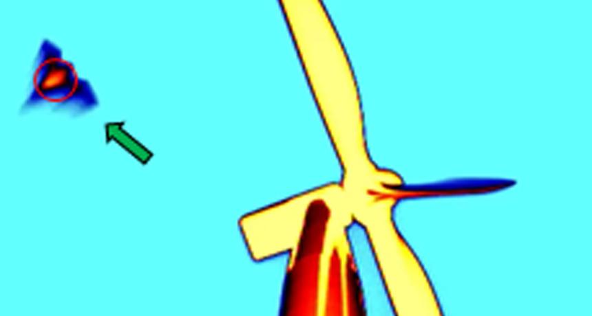 thermal image of bat at wind turbine