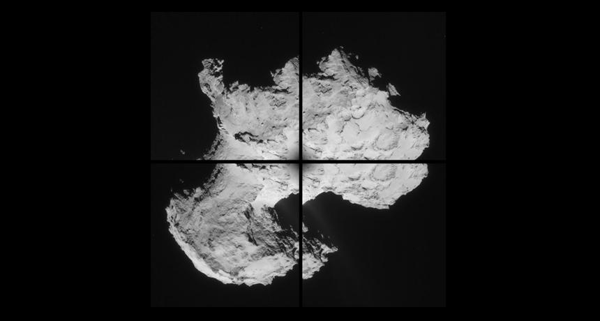 comet 67P mosaic