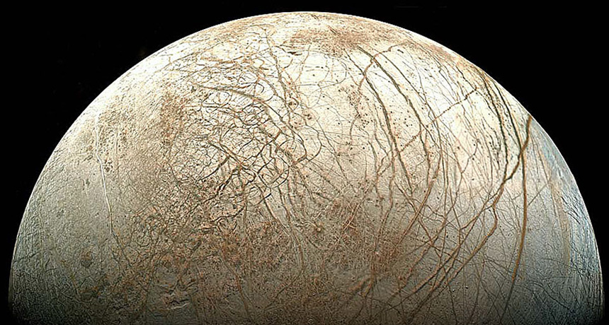 image of Jupiter's frosty moon Europa