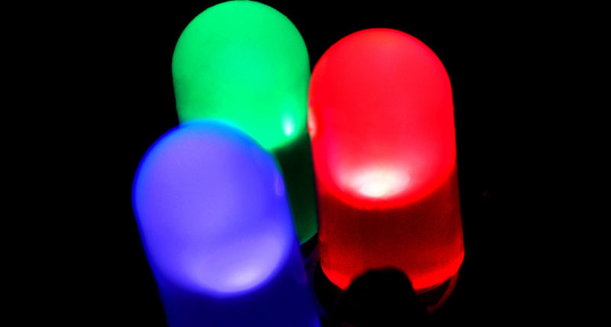 red, green, blue light-emitting diodes