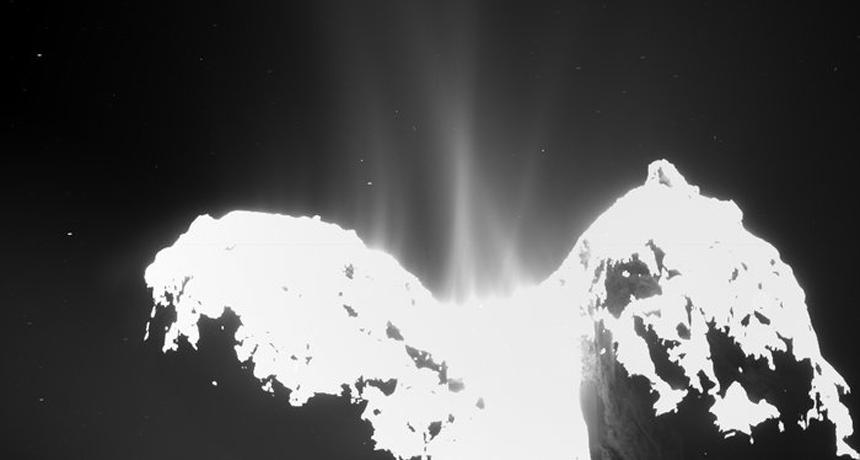 comet 67P jets