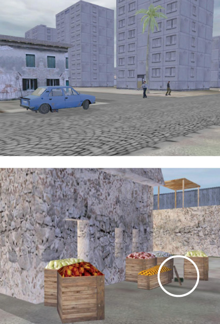 screenshots from video game