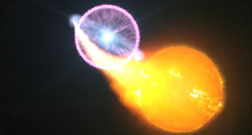 nova in space, illustration