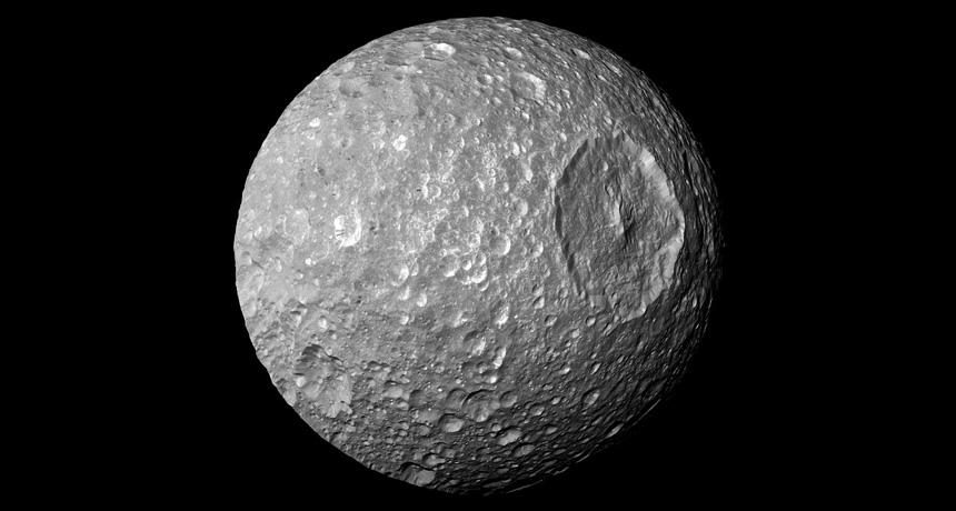 Saturn's smallest major moon, Mimas