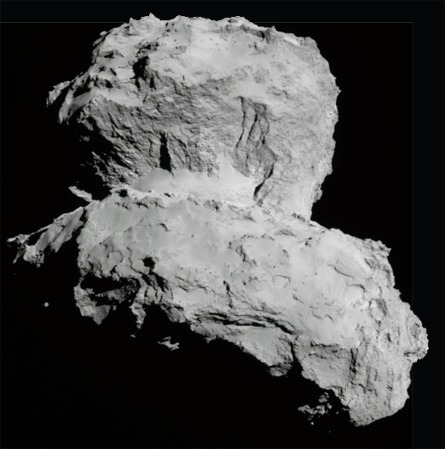close-up of comet 67P