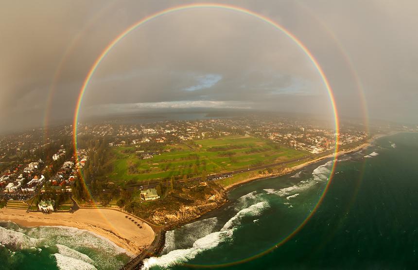 a full-circle rainbow