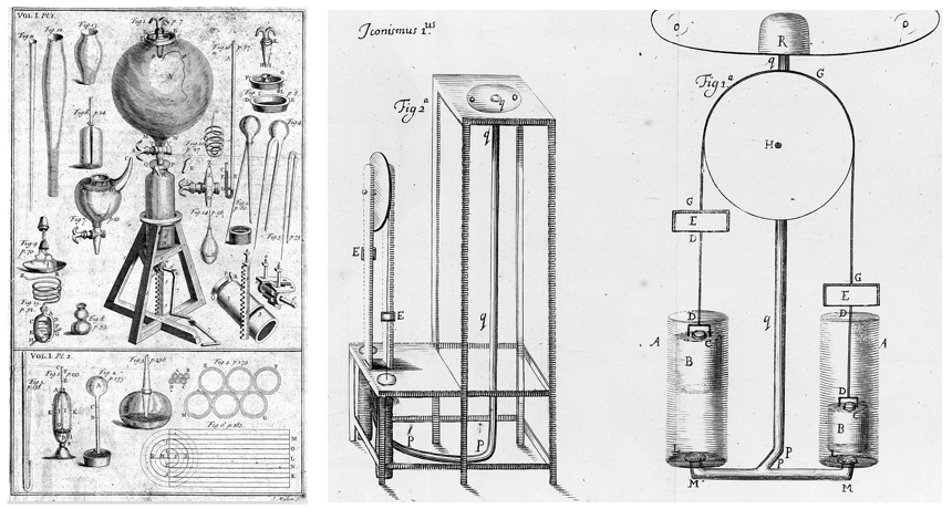 illustrations of Robert Boyle's air pumps