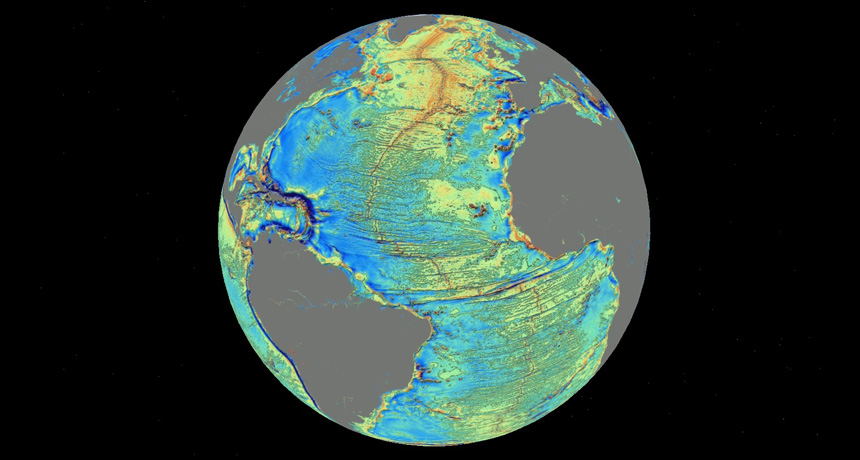new map charts the depths of Earth's oceans