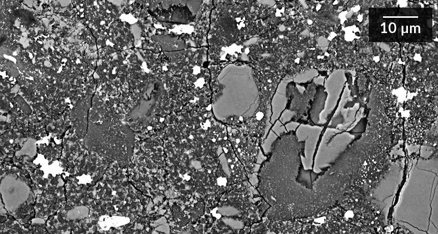 A meteorite sample