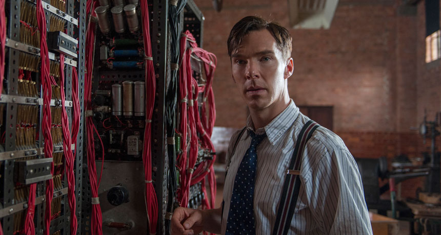 Benedict Cumberbatch as mathematician Alan Turing