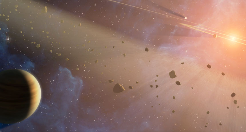 Asteroids and comets that smashed into the planet