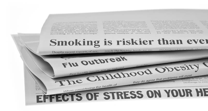 newspapers with health headlines