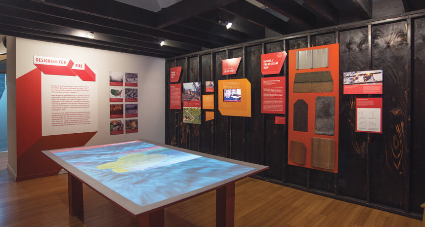 Designing for Disaster exhibit at National Building Museum