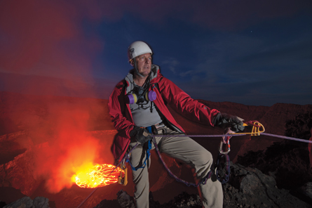 Kenneth Sims at the volcano