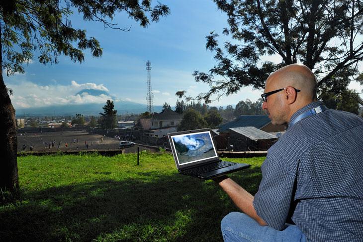 Dario Tedesco at Mount Nyiragongo