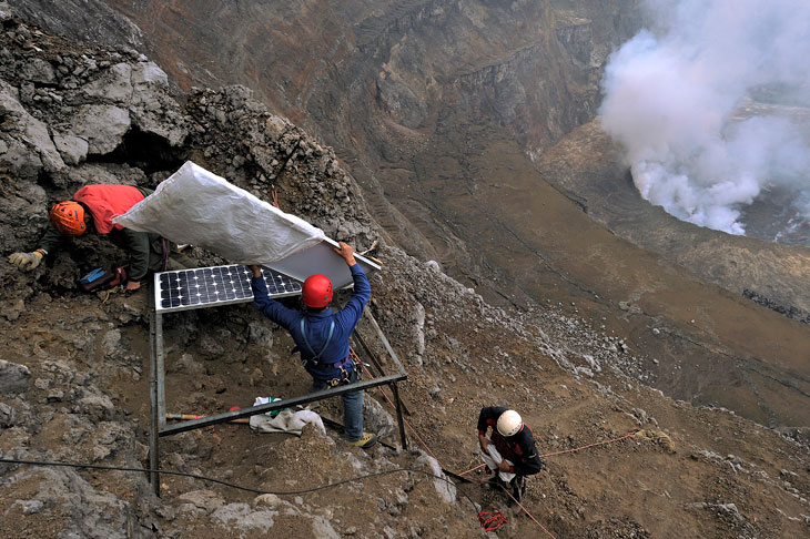 researchers at Mount Nyiragongo