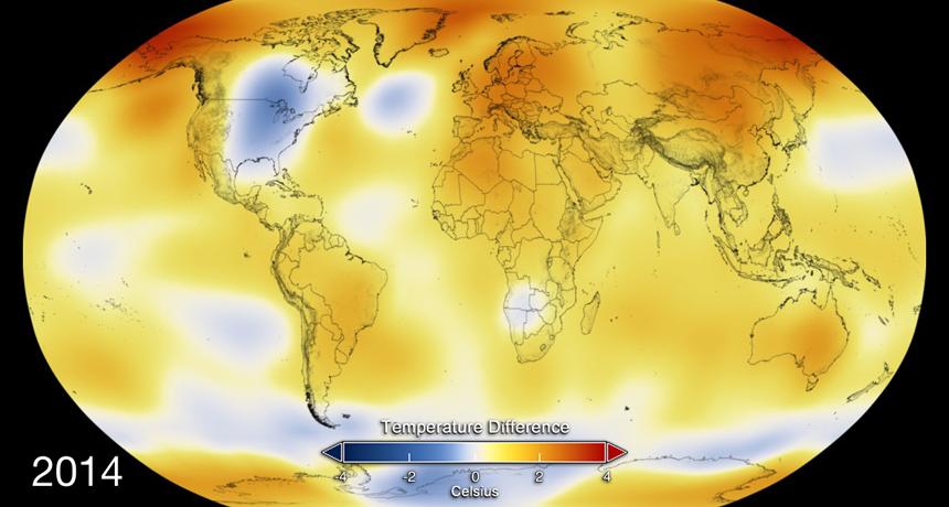 2014 temperature map