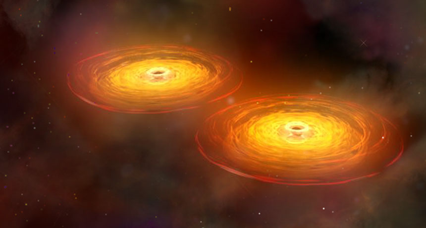 black holes are on a collision course
