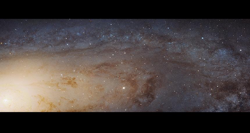 61,000 light-year-long swath of the Andromeda galaxy