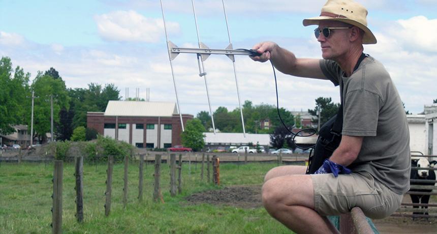 Doug Warrick with drone