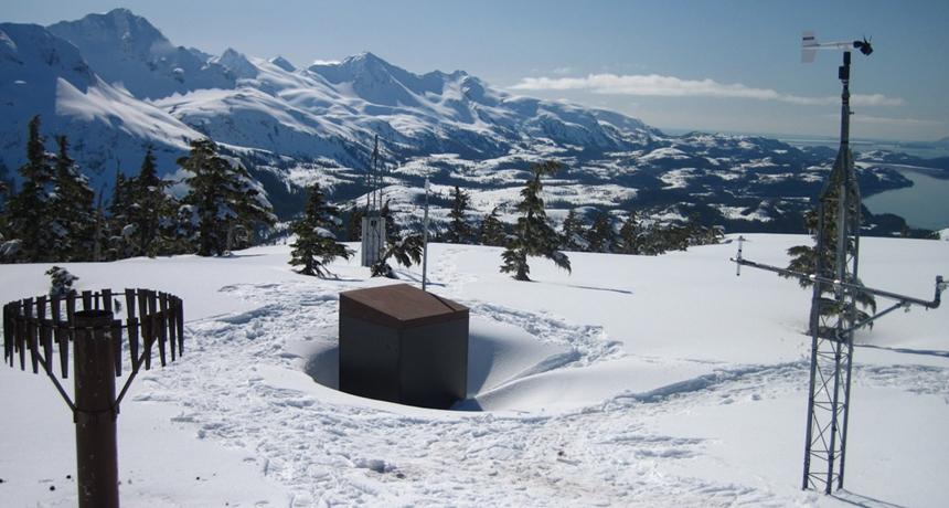 temperature sensor in Mount Eyak, Alaska