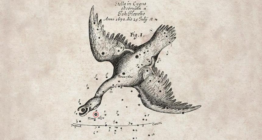 Chart of Nova Vul 1670