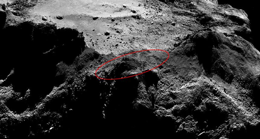 possible Philae landing area