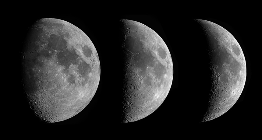 moon phases composite