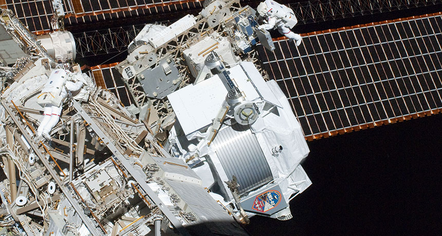 The AMS on the ISS