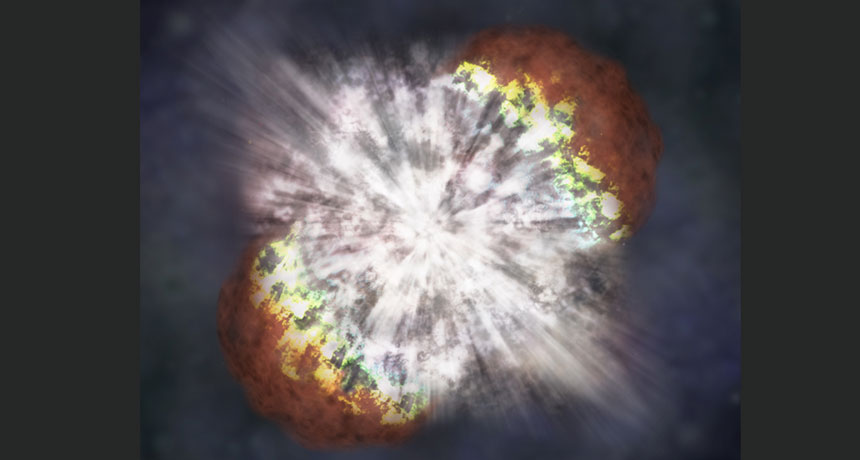 illustration of stellar explosion
