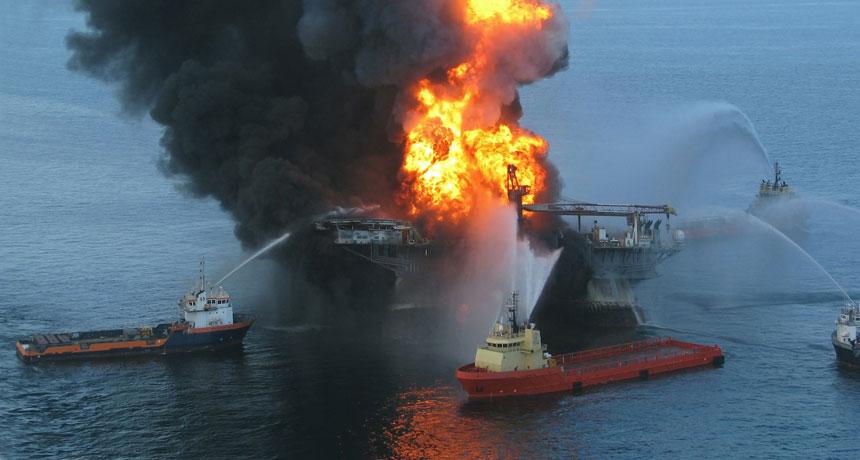 Exploding Oil Rig