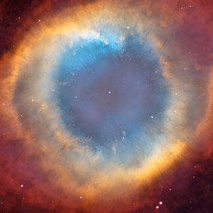 dying star in Helix nebula