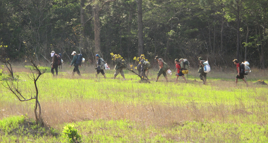 Trekking through Laos