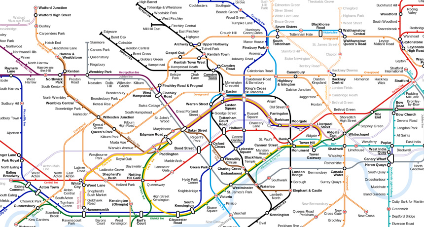 A map of the London tube